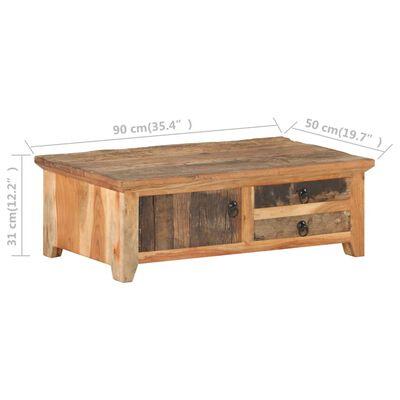 vidaXL Soffbord 90x50x31 cm massivt återvunnet trä