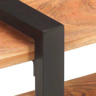 vidaXL Sängbord 50x40x40 cm massivt akaciaträ