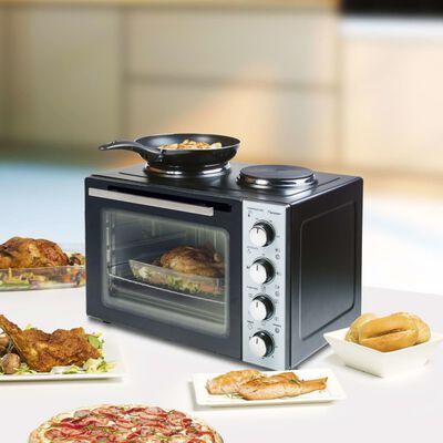 Bestron Grillugn med två kokplattor Crispy & Co AOV31CP 3200W 31L