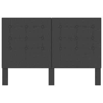vidaXL Huvudgavel mörkgrå tyg tuftad 140x200 cm