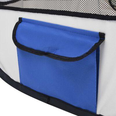 vidaXL Hopfällbar hundhage med väska blå 110x110x58 cm