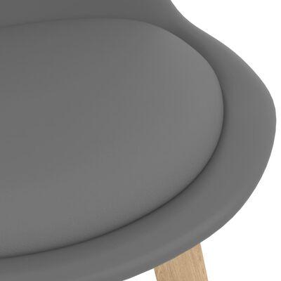 vidaXL Barstolar 2 st grå PP och massivt bokträ