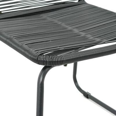 vidaXL Matgrupp för trädgården 5 delar PVC-rotting svart och brun