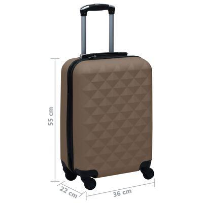 vidaXL Hård resväska brun ABS