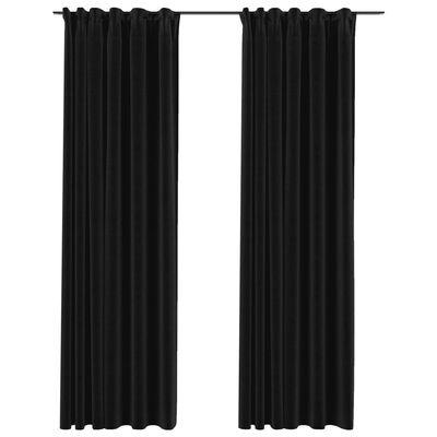 vidaXL Mörkläggningsgardiner med krokar 2 st antracit 140x245 cm
