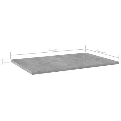 vidaXL Hyllplan 8 st betonggrå 60x40x1,5 cm spånskiva