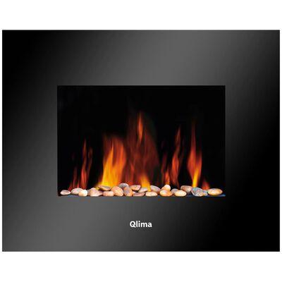 Qlima Elektrisk värmare med flameffekt EFE 2018 1800 W svart