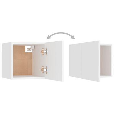 vidaXL Sängbord 2 st vit 30,5x30x30 cm spånskiva