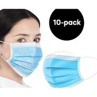 10-pack CE-godkända Munskydd, ansiktsmasker (3-lager)
