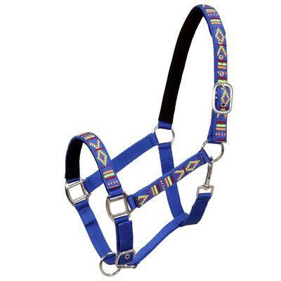 vidaXL Grimmor 2 st för häst nylon strl cob blå