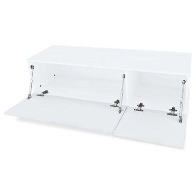 vidaXL TV-bänkar 2 st spånskiva 120x40x34 cm vit högglans