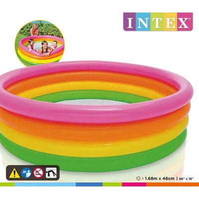 Intex Uppblåsbar pool Sunset 4 ringar 168x46 cm
