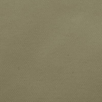 vidaXL Solsegel oxfordtyg rektangulärt 2x5 m beige