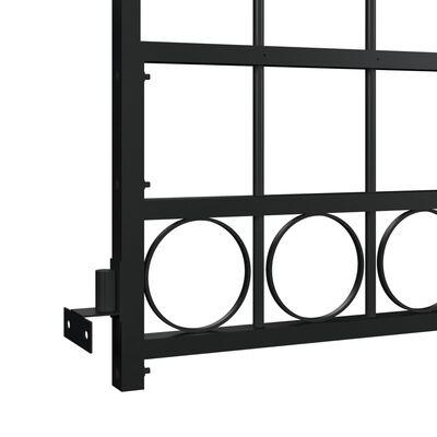 vidaXL Trädgårdsgrind med välvd ovansida stål 89x200 cm svart