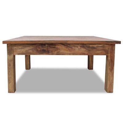 vidaXL Soffbord i massivt återvunnet trä 98x73x45 cm