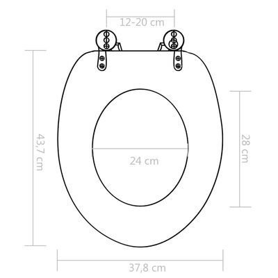 vidaXL Toalettsitsar med mjuk stängning 2 st MDF vattendroppe