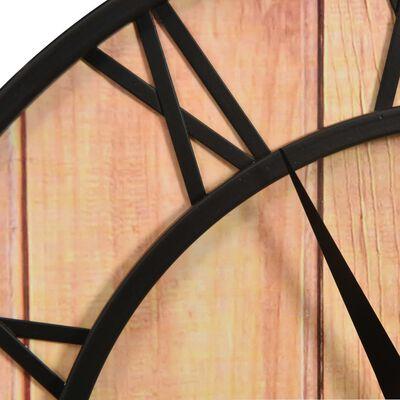 vidaXL Väggklocka 39 cm brun och svart MDF och järn