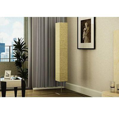 vidaXL Golvlampa med stålstativ 170 cm beige