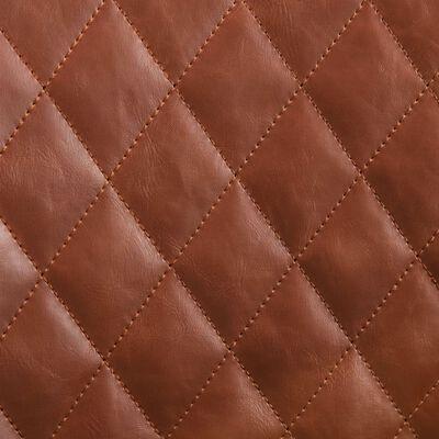 vidaXL Matstol ljusbrun konstläder