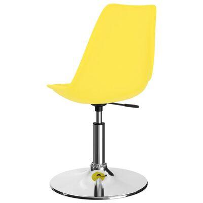 vidaXL Matstolar snurrbara 6 st gul konstläder