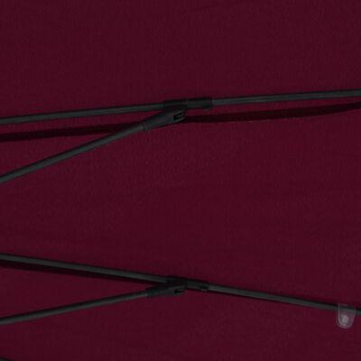 vidaXL Trädgårdsparasoll med aluminiumstång 270 cm vinröd