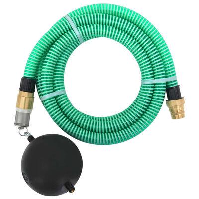 vidaXL Sugslang med kopplingar i mässing 20 m 25 mm grön
