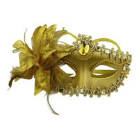 Elegant Venetian Mask - Maskerad Halloween - Guld