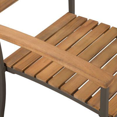 vidaXL Matgrupp för trädgården 7 delar massivt akaciaträ och stål