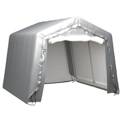 vidaXL Förvaringstält 300x300 cm stål grå