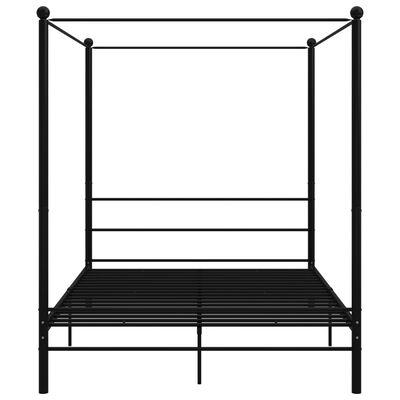 vidaXL Himmelsäng svart metall 160x200 cm