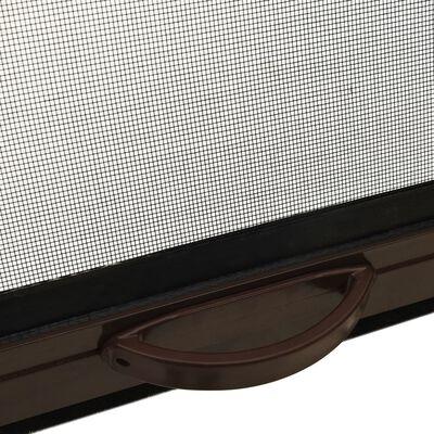 vidaXL Insektsnät för fönster brun 150x170 cm
