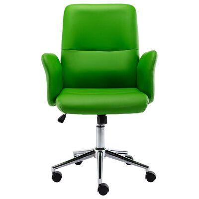 vidaXL Kontorsstol grönt konstläder