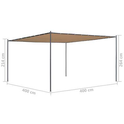 vidaXL Paviljong med snedtak 400x400x264 cm beige 180 g/m²