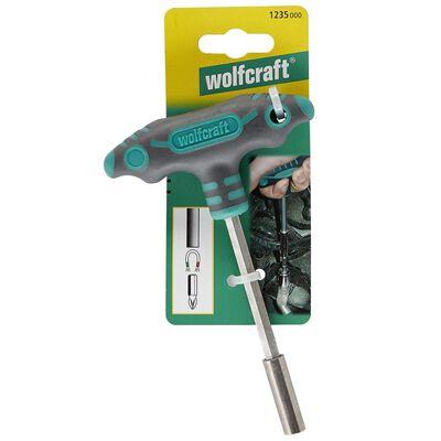wolfcraft Skruvmejsel med T-handtag och bitshållare 1235000