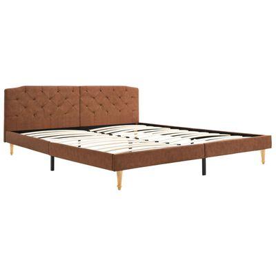 vidaXL Sängram brun tyg 180x200 cm, Brun