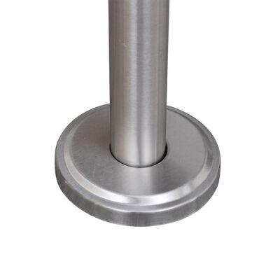 Brevlåda på stativ i rostfritt stål