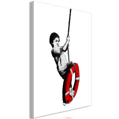 Tavla - Banksy: Boy On Rope (1 Part) Vertical - 60x90 Cm,