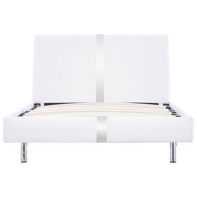 vidaXL Sängram vit konstläder 90x200 cm