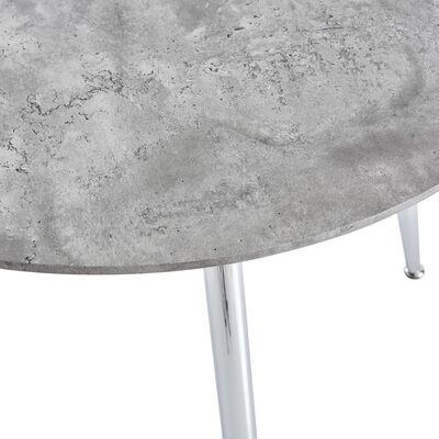 vidaXL Matbord betong och silver 90x73,5 cm MDF