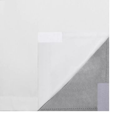 vidaXL Mörkläggningsgardiner 2 st dubbla lager 140 x 245 cm vit