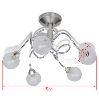 vidaXL Taklampa 5-armad G9 runda lampskärmar
