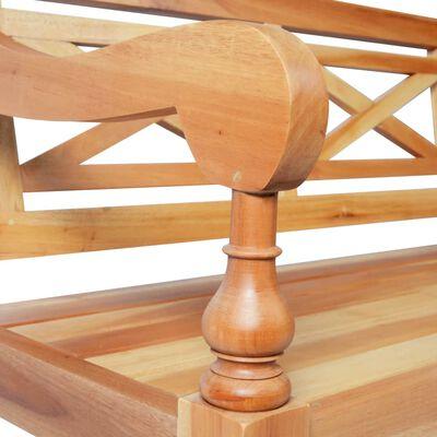vidaXL Bataviabänk 136 cm massivt mahognyträ ljusbrun