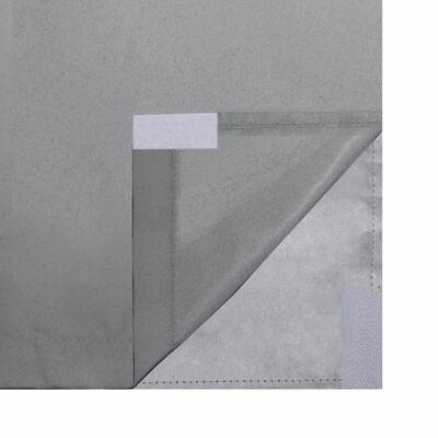vidaXL Mörkläggningsgardiner 2 st dubbla lager 140x175 cm grå