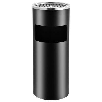 vidaXL Askfat/soptunna 30 L stål svart