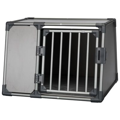 TRIXIE Lutande hundtransportbur aluminium strl. L grafitgrå 39338