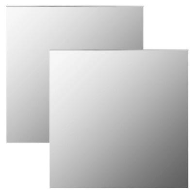 vidaXL Väggspeglar 2 st 50x50 cm fyrkantig glas