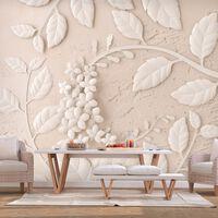 Fototapet - Paper Flowers (beige) - 350x245 Cm