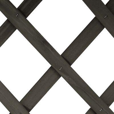 vidaXL Odlingslåda med spaljé grå 45x30x74 cm massivt granträ, Grå