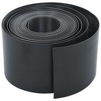 vidaXL Rabattkant grå 10 m 15 cm PE