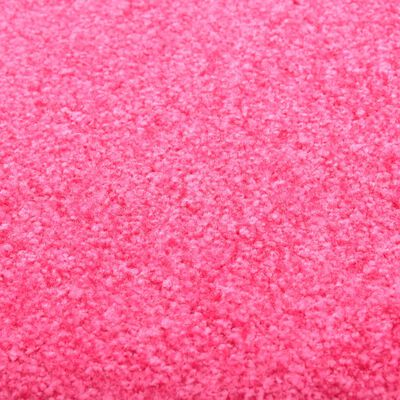 vidaXL Dörrmatta tvättbar rosa 60x180 cm